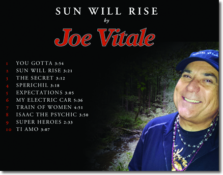 Sunwill by Jow Vitale - Song list